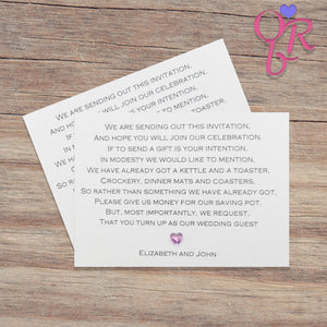 CHLOE Money Poem Card