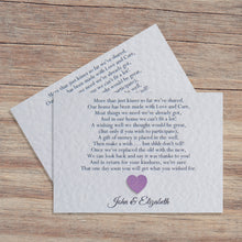MILLIE Money Poem Cards - Glitter