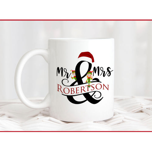 Mr & Mrs with Elves Mug