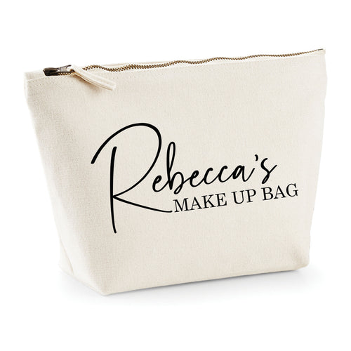 Personalised Canvas Make Up Bag *Any Name*
