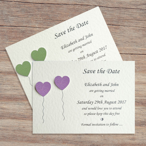 OLIVIA Save the Date Cards - Glitter