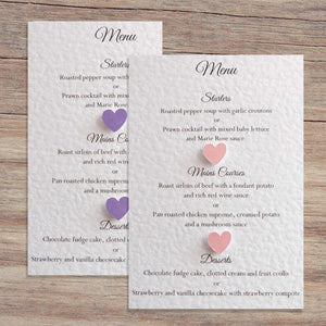 MILLIE Wedding Menu - Pearl