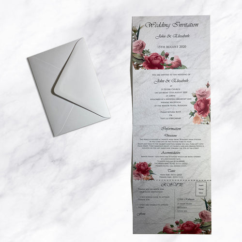 ROSIE Concertina Folded Wedding Invitations