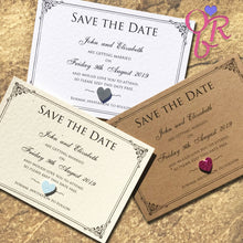 CHARLOTTE Save the Date Cards - Glitter