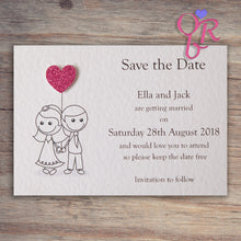 AMELIA Save the Date Cards - Glitter