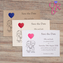 AMELIA Save the Date Cards - Pearl