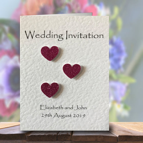 SIENNA Folded Invitation - Glitter
