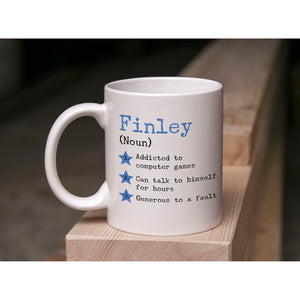 Personalised Name Stars Definition Mug