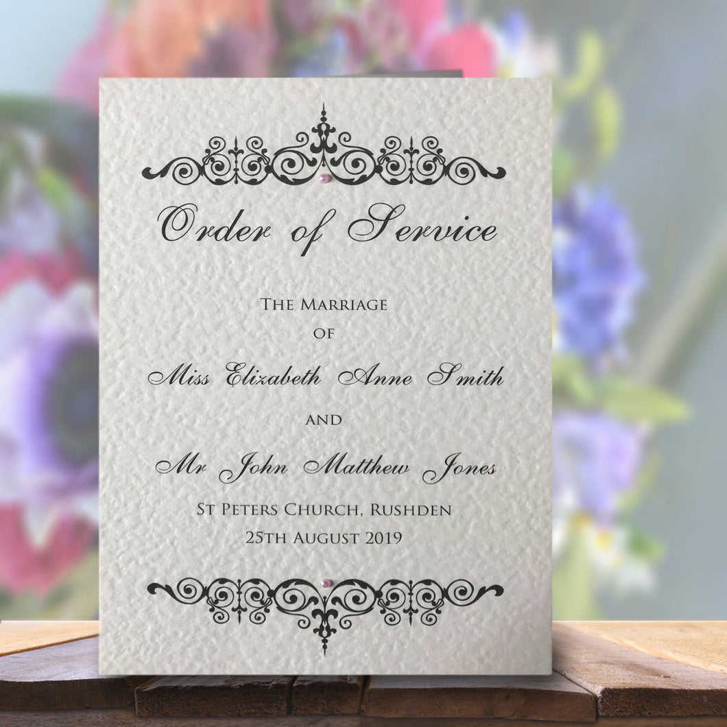 TILLY Order of Service Booklet