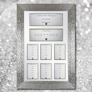 LOLA DIY Table Plan Cards - Glitter