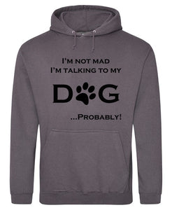 I'm Talking To My Dog Hoodie