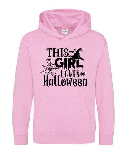 This Girl Loves Halloween Kids Hoodie
