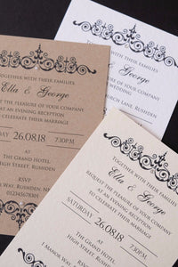 TILLY Day or Evening Invites