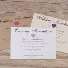 VICTORIA Day or Evening Invites - Glitter