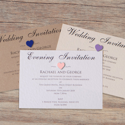 VICTORIA Day or Evening Invites - Pearl