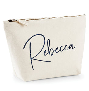 Personalised Canvas Make Up Bag *Any Name* V2