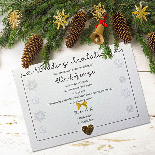 LOLA Day or Evening Christmas Invites - Glitter