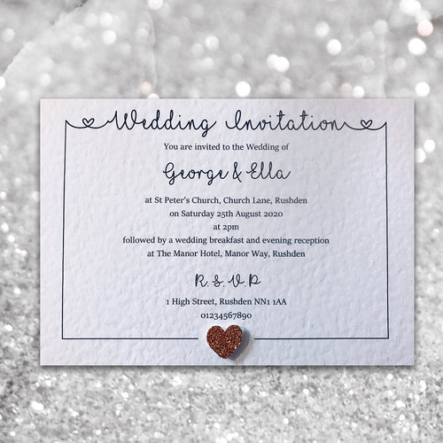 LOLA Day or Evening Invites - Glitter