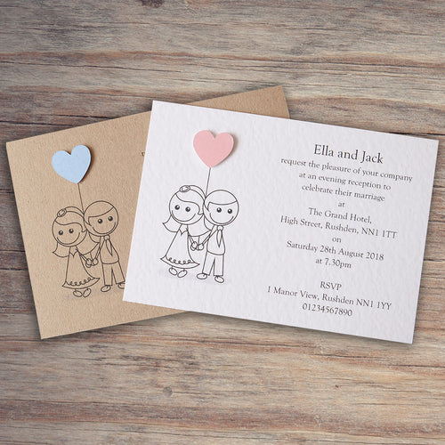 AMELIA Day or Evening Invites - Pearl