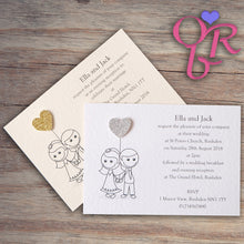AMELIA Day or Evening Invites - Glitter