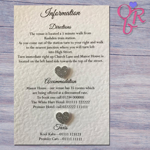 MILLIE Information Cards - Glitter