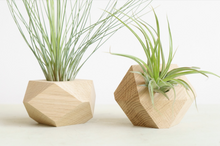 Geometric wood planter