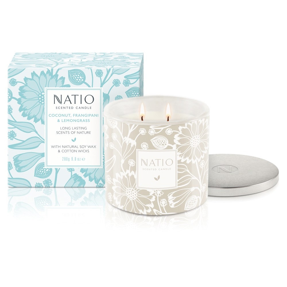 Natio Scented Candle - Coconut, Frangipani & Lemongrass