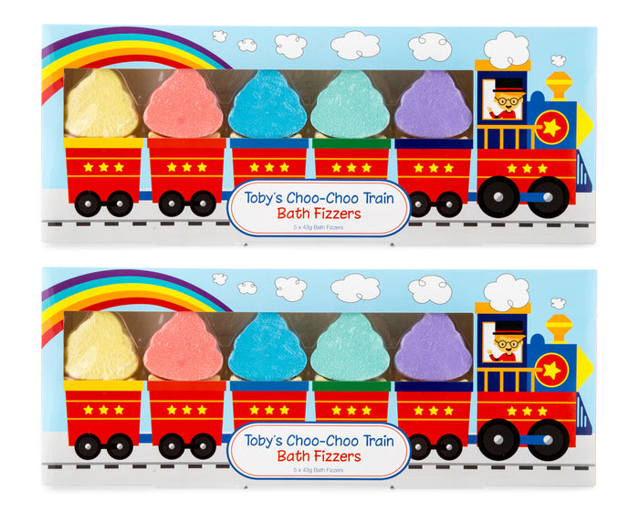 Toby's Choo Choo Train Bath Fizzers 5pk