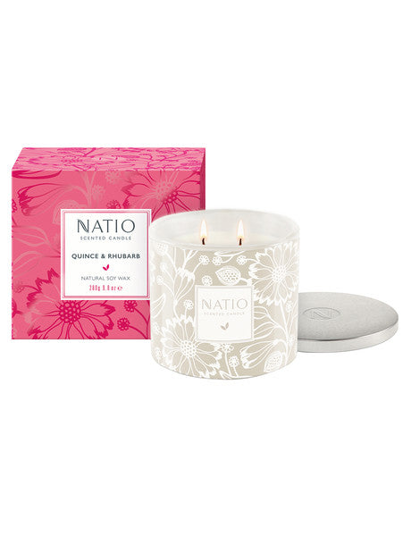 NEW Natio Scented Candle - Quince & Rhubarb