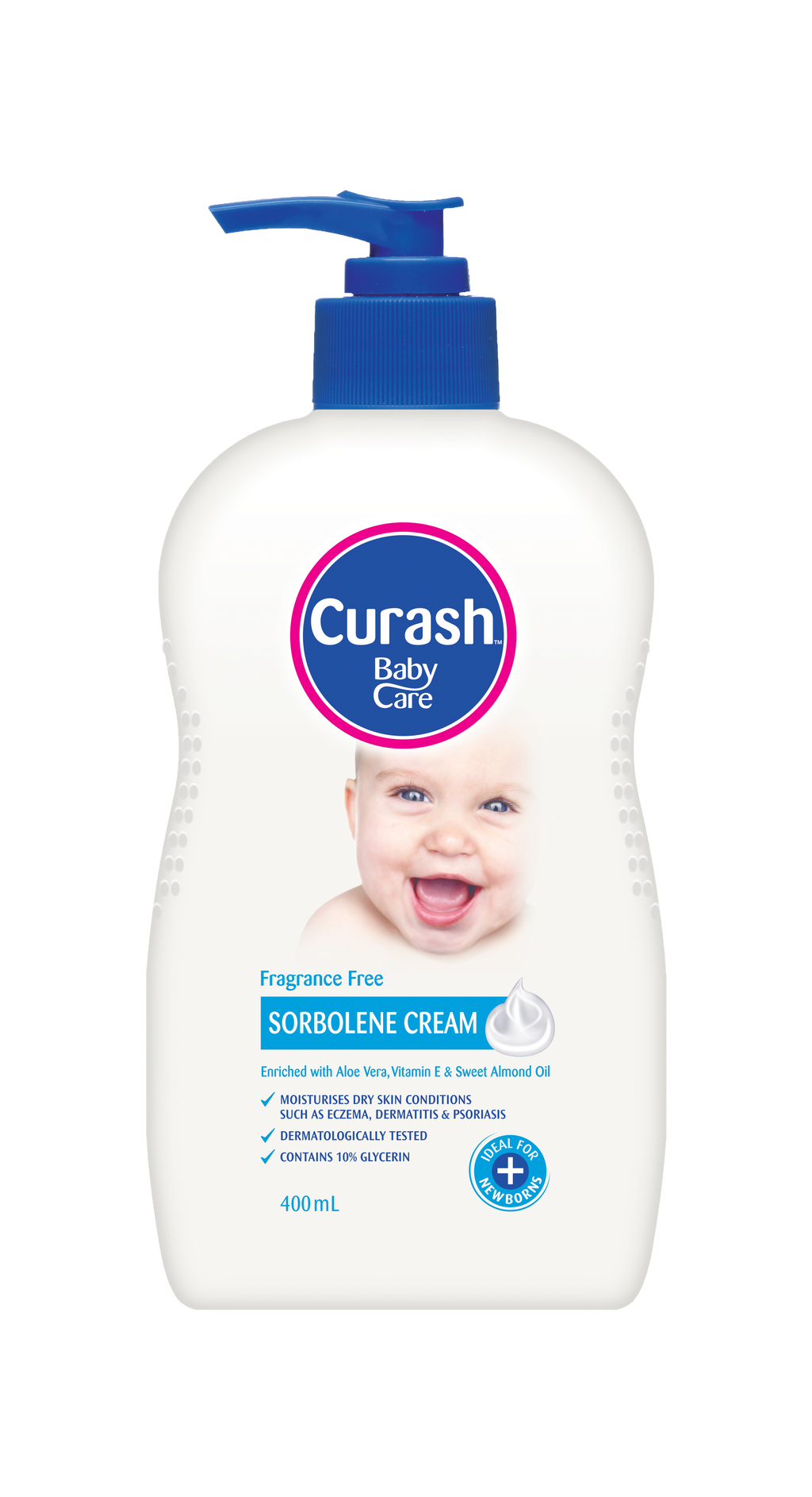 Curash Fragrance Free Sorbolene Cream 400ml