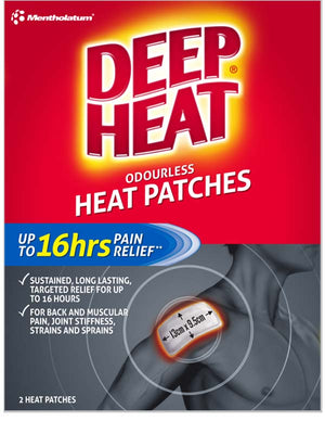 Deep Heat Patches Odourless 2's
