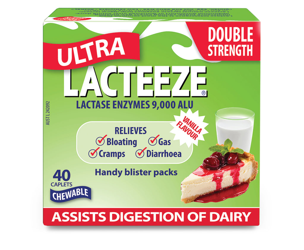 Lacteeze Ultra Strength Chewable Caplets 40