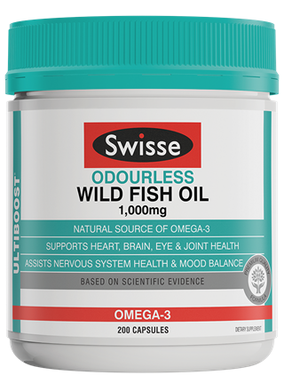 Swisse Odourless Wild Fish Oil 1000mg Capsules 200