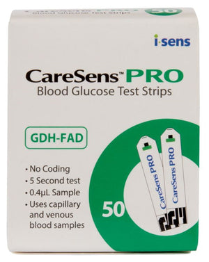 CareSens Pro Blood Glucose Test Strips 50