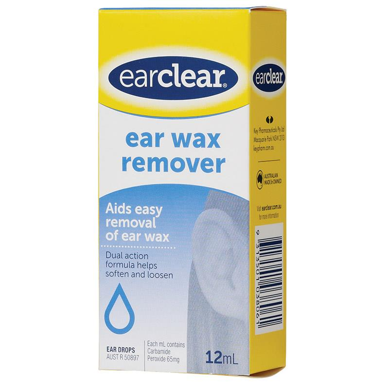 Ear Clear Ear Drops For Wax Removal 12ml