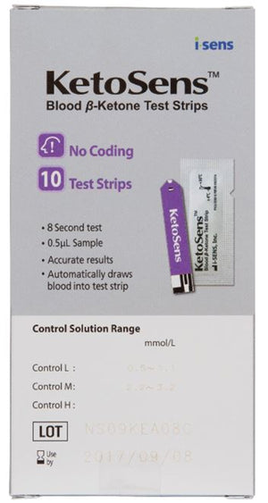 KetoSens Blood Ketone Test Strips 10