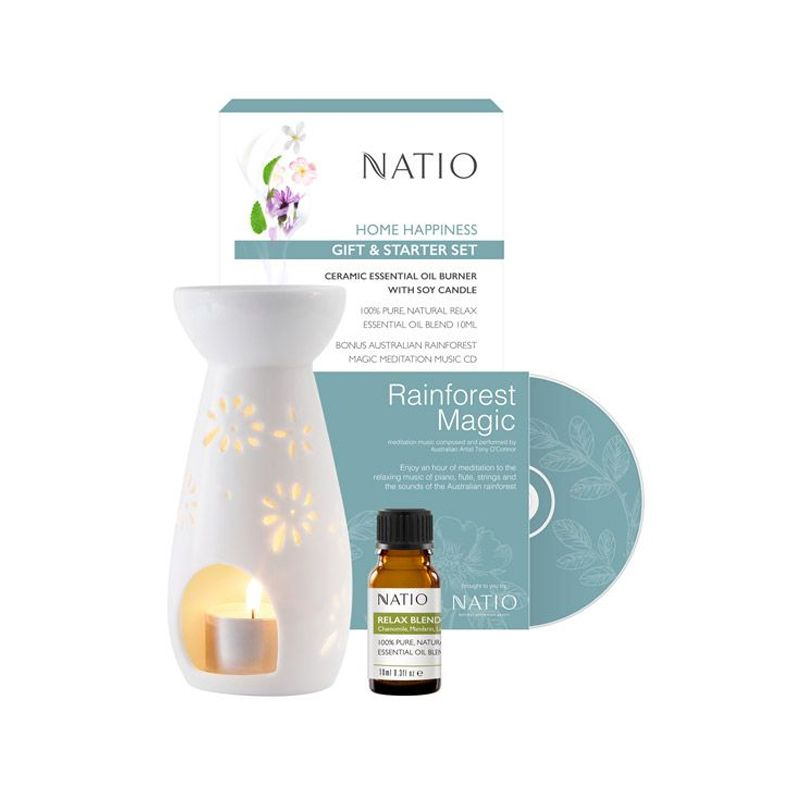 Natio Calm Ceramic Essential Oil Burner Set