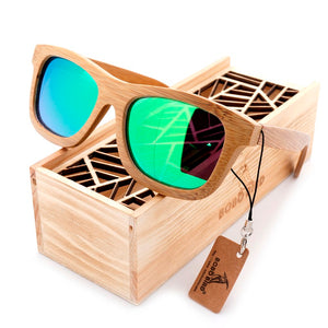 Natural Bamboo Polarized Reflective Sunglasses - 6 Colors Available - Average Jack