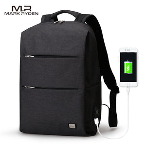 Large Capacity Water Repellent  Backpack For 15.6 inches Laptop With Charging Port - 3 Colors Available - Average Jack