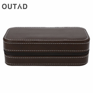 OUTAD 2/4/8 Slots Watch Case Storage With Zipper - Average Jack