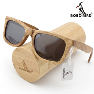 Polarized Bamboo Sunglasses With Free Gift Box - 3 Colors Available - Average Jack
