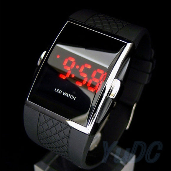 Mens Man Luxury Date Digital Sport Led Watch Rubber Wrist Red Black White Gift Fashion Accessories