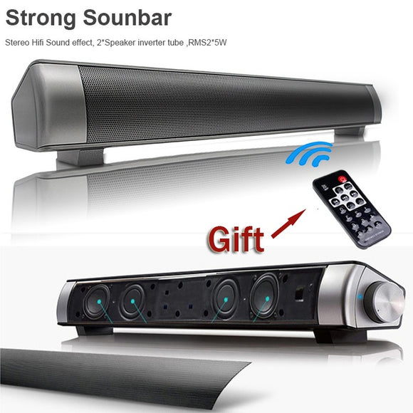 Fashion Strong Super Bass Sound Bar TV Wireless Bluetooth Speaker Home TV Theater Soundbar with Subwoofer + Remote Contro