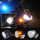 Motorcycle Motorbike E-bike 20W CREE 4 LED Headlight Light White Bulb Black/Silver/Gold