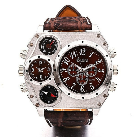 BEST SELLER / Quartz Wrist Watch Compass Dual Quartz Wrist men Watch