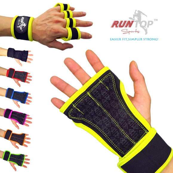 Weight Lifting Gloves Crossfit Protect Wrist Wrap Support
