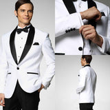Men Black Double Breasted Wedding Groom Suit With Pants