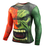 Hot Sale Fitness Compression Shirt for Men with 3D Superman