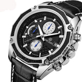 Male watches Genuine Leather watches racing men