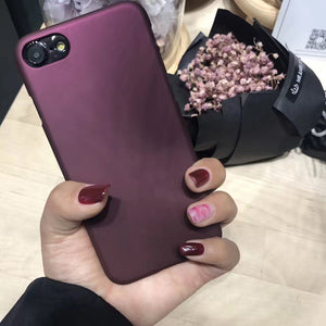 Luxury Wine Red Case For iphone 7 Case For iphone 6 6S  7 Plus 5 5S SE